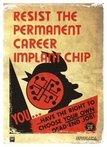 Resist the Permanent Career Implant Chip Canvas