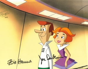 Jane and George Jetson smile