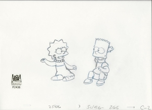 Bart Simpson and Lisa clap