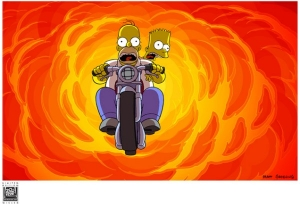 Bart & Homer on Bike
