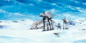 Imperial Walkers on the North Ridge Paper