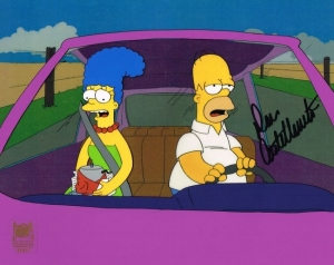 Homer and Marge in car