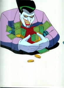 Joker grabs money