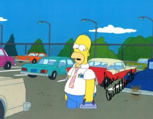 Homer in parking lot