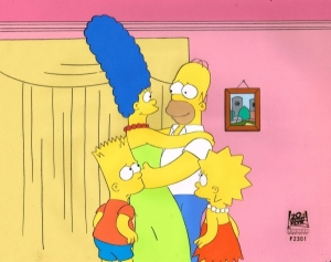 The Simpsons Family hug
