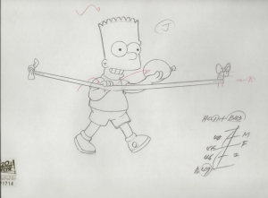 Bart Simpson with water balloon
