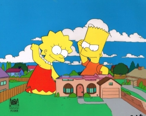 Bart and Lisa Large Background
