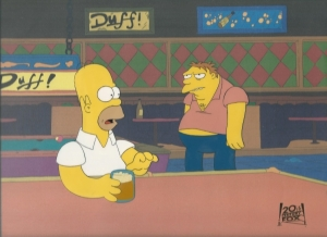 Homer with Barney in Bar