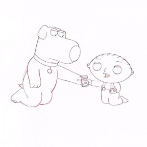 Stewie and Brian hands