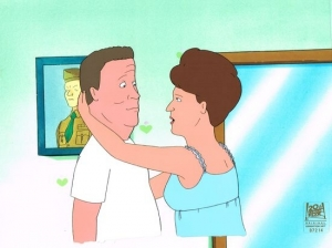 Hank and Peggy Hill hug