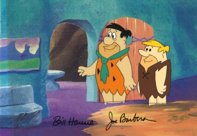 Fred Flintstone and Barney Rubble doorway