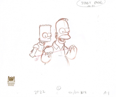 Bart Simpson and Homer Simpson