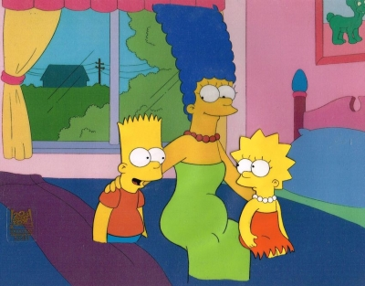 Marge with Lisa and Bart (sit)