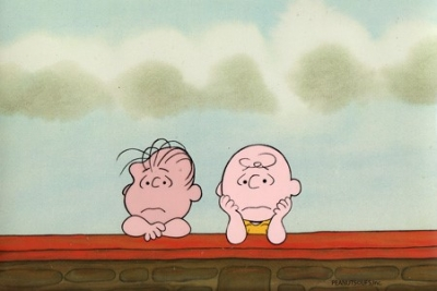 Charlie Brown and Linus wall