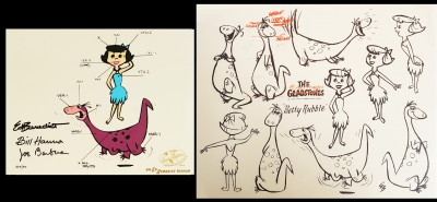Betty Rubble and Dino Model Sheet