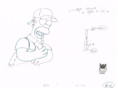 Homer Simpson with Ball Cap