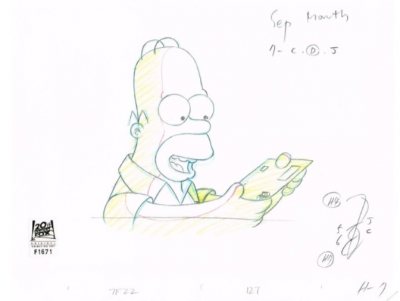 Homer Simpson reading letter