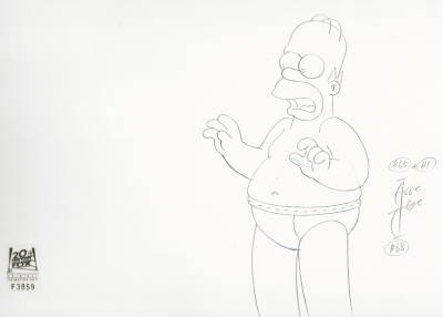 Homer Simpson in undies