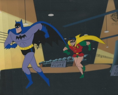 Batman and Robin on original background