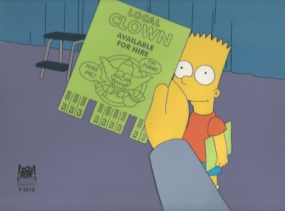 Bart Simpson Clown flyer