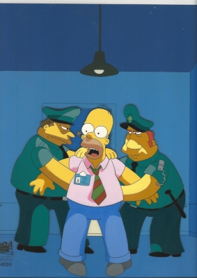 Homer Simpson with cops
