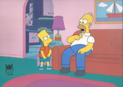Homer Simpson and Bart discuss 4166