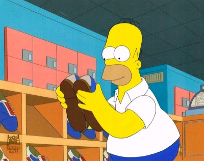 Homer Simpson at bowling alley