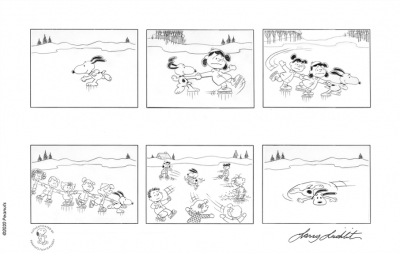 Peanuts - Crack the Whip, Snoopy! Storyboard