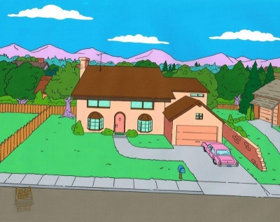 The Simpsons House Background DABF09