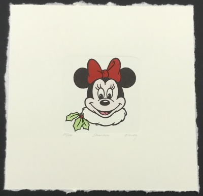 Minnie Mouse Christmas Etching