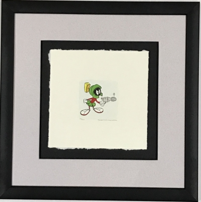 Marvin the Martian etching