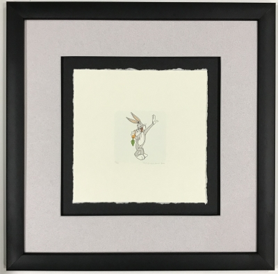 Bugs Bunny standing etching