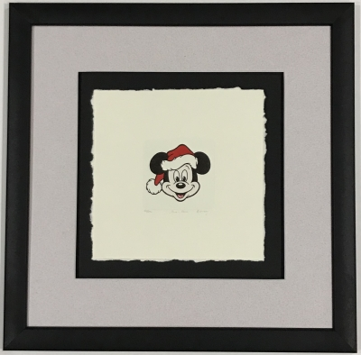 Mickey Mouse XMas etching